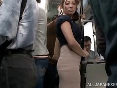 Bus, Asian, Bus, Fingering, Japanese, MILF