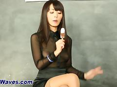 Asian bukkake whore sucks