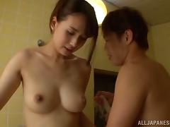 Japanese couple enjoys pussy licking and hot steamy sex