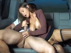 Backseat, Backseat, Car, Handjob, Outdoor