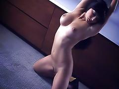 Undressing, Big Tits, Boobs, Boots, Brunette, Cunt