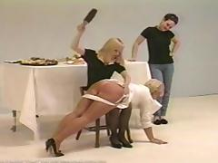 Desk, BDSM, Blonde, Desk, Punishment, Spanking