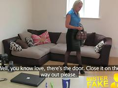 MisterFake Hot British chick doubts agent in hardcore casti
