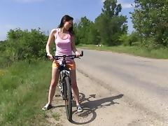 Shorts, Biker, Close Up, Country, Farm, Fingering