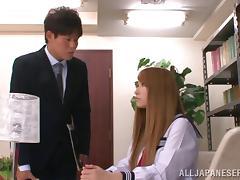 Pretty Japanese teen tia gets ganbanged in a locker room
