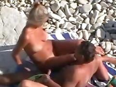 Spy Beach Voyeur Movie Of Older Pair Fucking On Beach