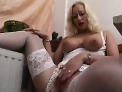 Amateur Blonde MILF In A Sexy Outfit