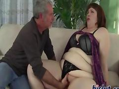 Cherie is a cute BBW sucking and fucking