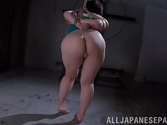 Asian sex slave with huge tits being tortured and fucked by a stranger