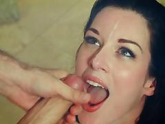 Sizzling brunette Stoya gets anal fucked and facialed