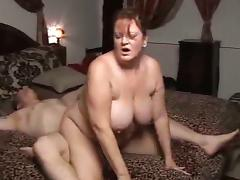 Mature fatty pleasantly exhausted after sex