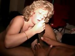 White wife jacks black lovers nut out