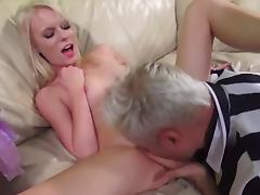 Hardcore sex video with slim blond chick Elaina Raye