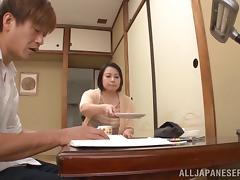 Hardcore sex video with huge-boobed mature Asian Misuzu Tomizaw