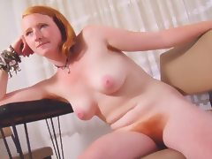 Real Redhead Isadora Nice Pink Tits Hairy Pink Red Bush