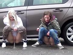 Teen, Compilation, Outdoor, Peeing, Pissing, Public