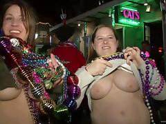 It's tits for beads as bitches flash during Mardi Gras